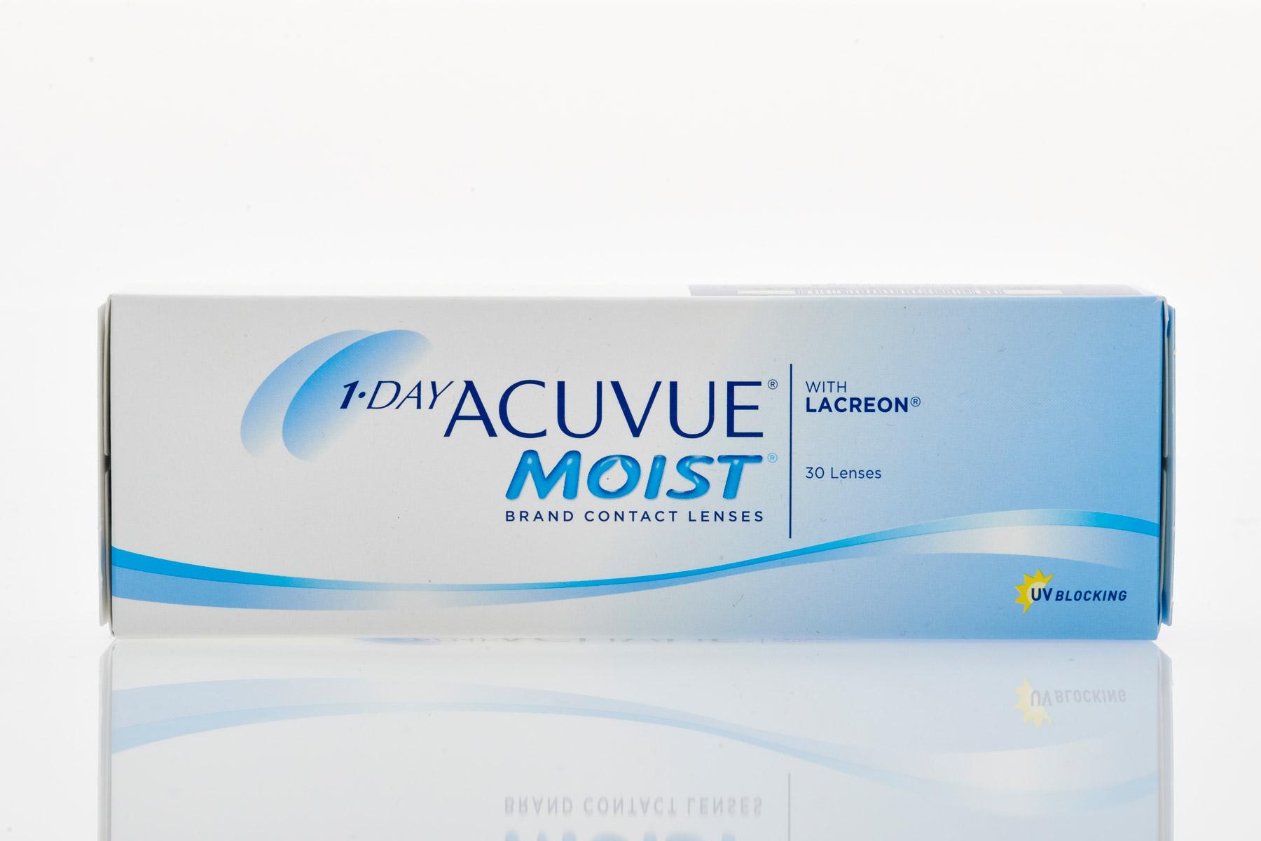 johnson & johnson ACUVUE 1-DAY MOIST Daily Contact Lenses for Myopia