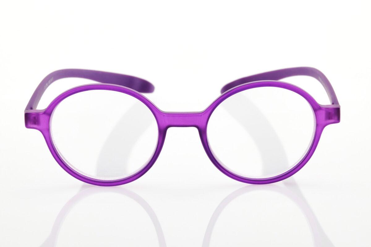 Proximo Purple Round Reading Glasses
