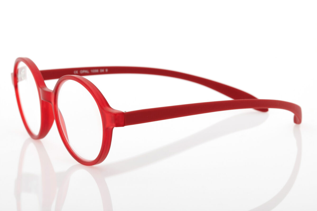 Proximo Red round Reading Glasses
