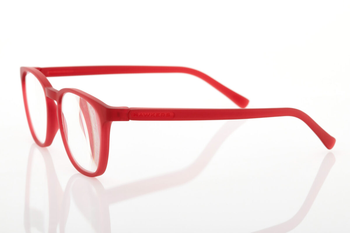 Hawkers Square Red Gradient Reading Glasses