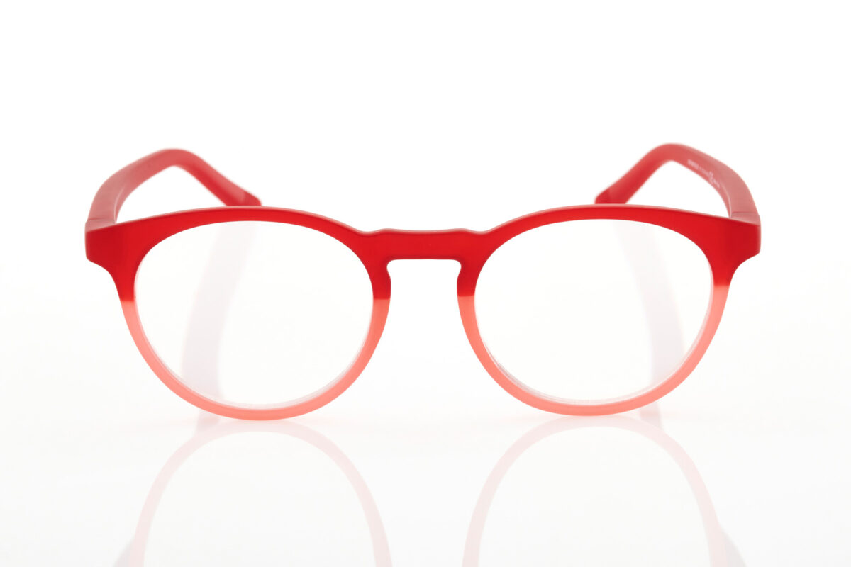 Hawkers Round Red Gradient Reading Glasses