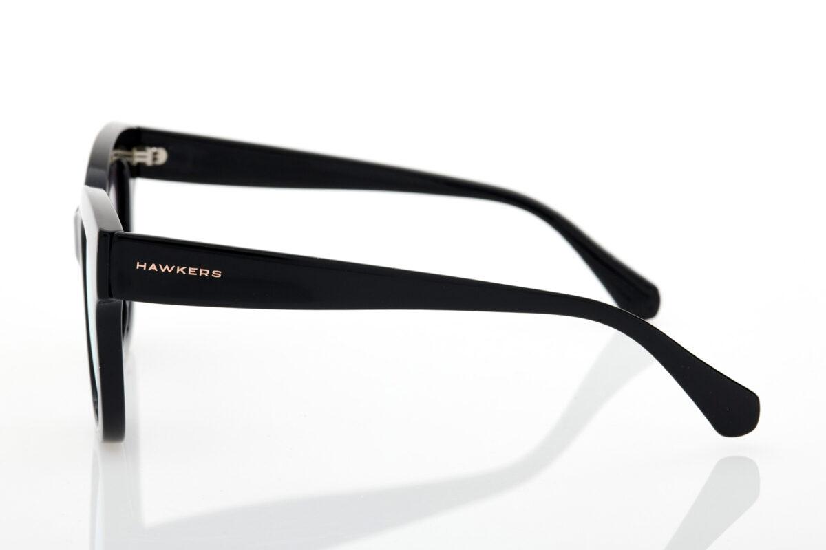 Black Female Sunglasses Hawkers Audrey Black Rose Gold