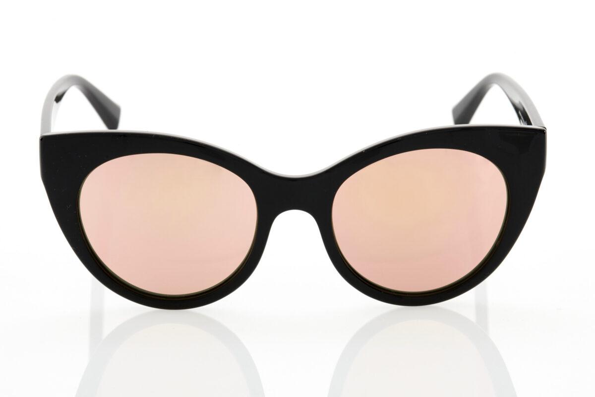 Female Black Mirror Sunglasses Hawkers Divine Black Rose Gold