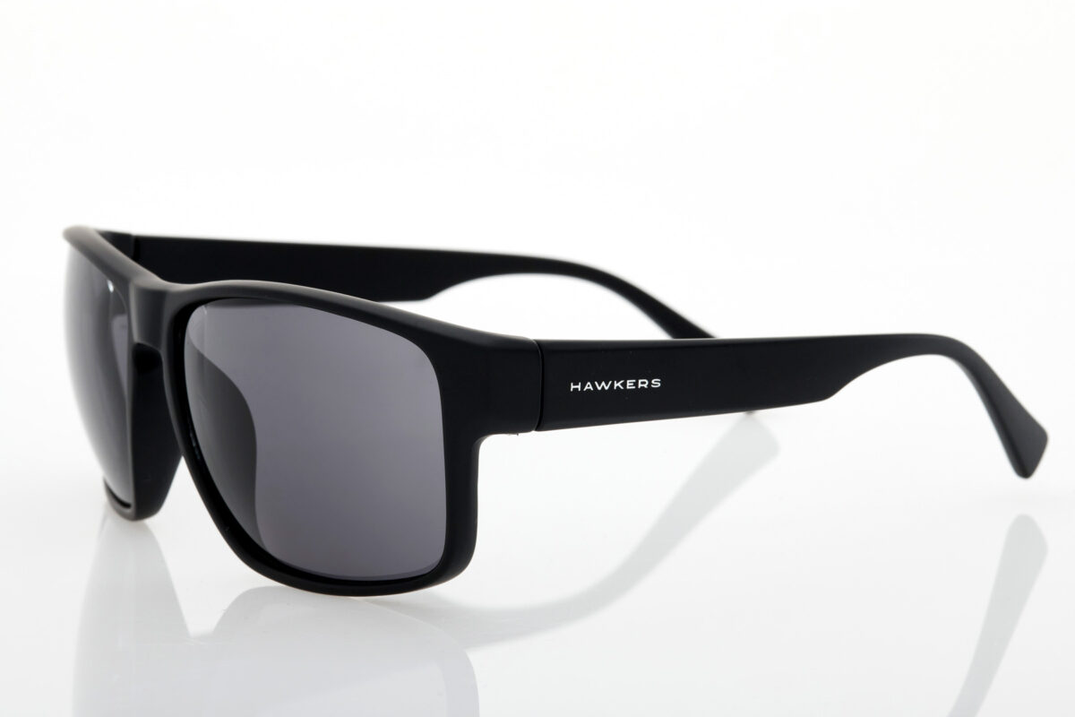 Black Unisex Sunglasses Hawkers Faster Dark Black