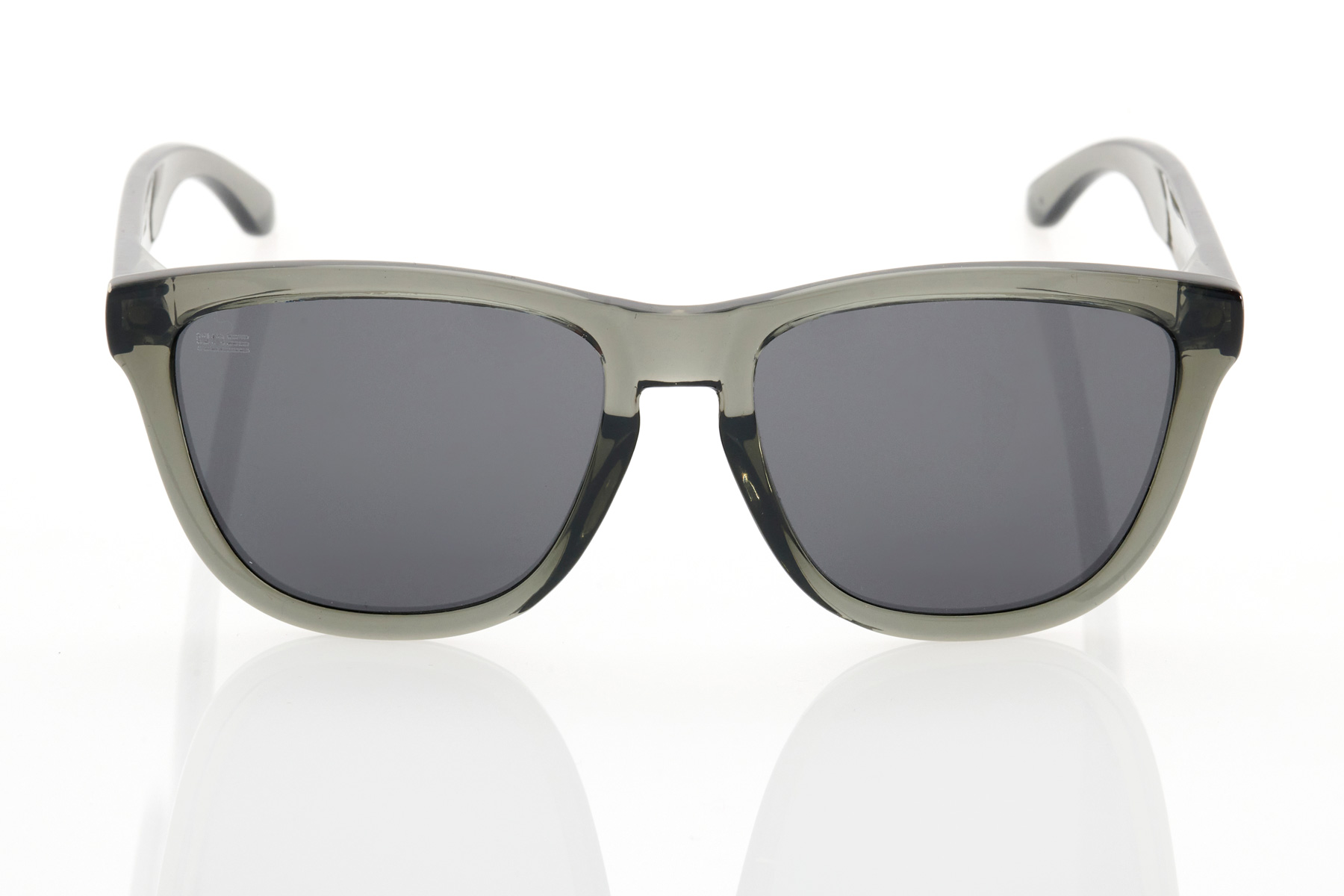 Grey Unisex Sunglasses Hawkers Crystal Black Dark One