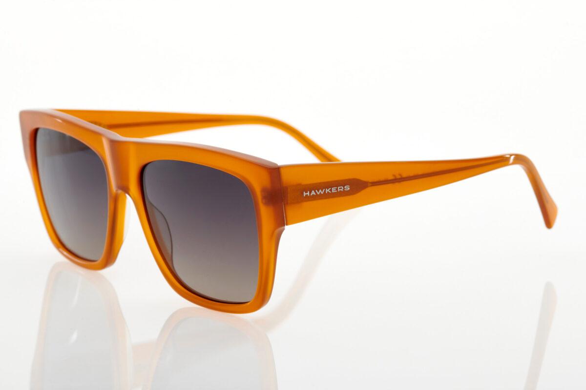 unisex Orange Sunglasses Hawkers Doumu Caramel
