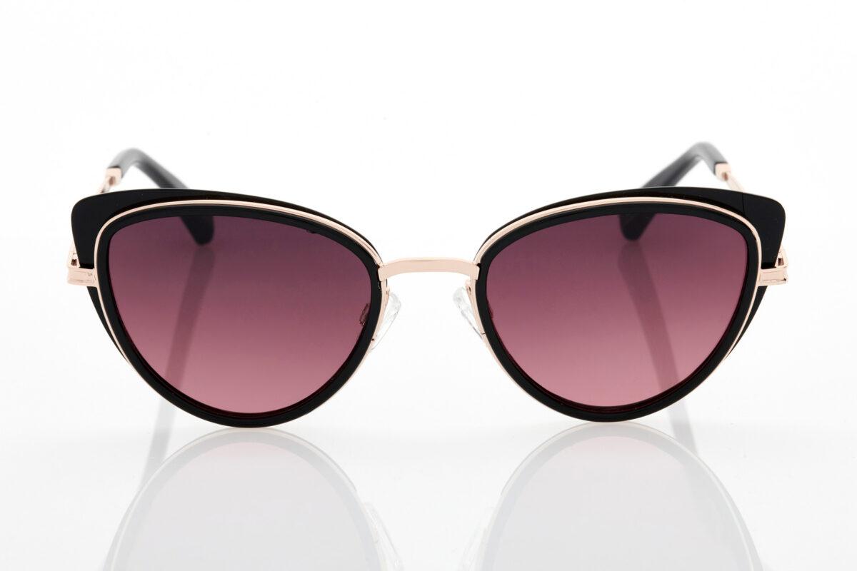 Female Black Sunglasses Hawkers Feline Black Wine