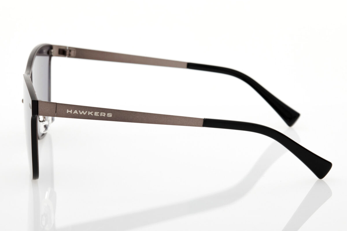 Unisex Black Sunglasses Hawkers One Venm Metal Gun Metal Dark