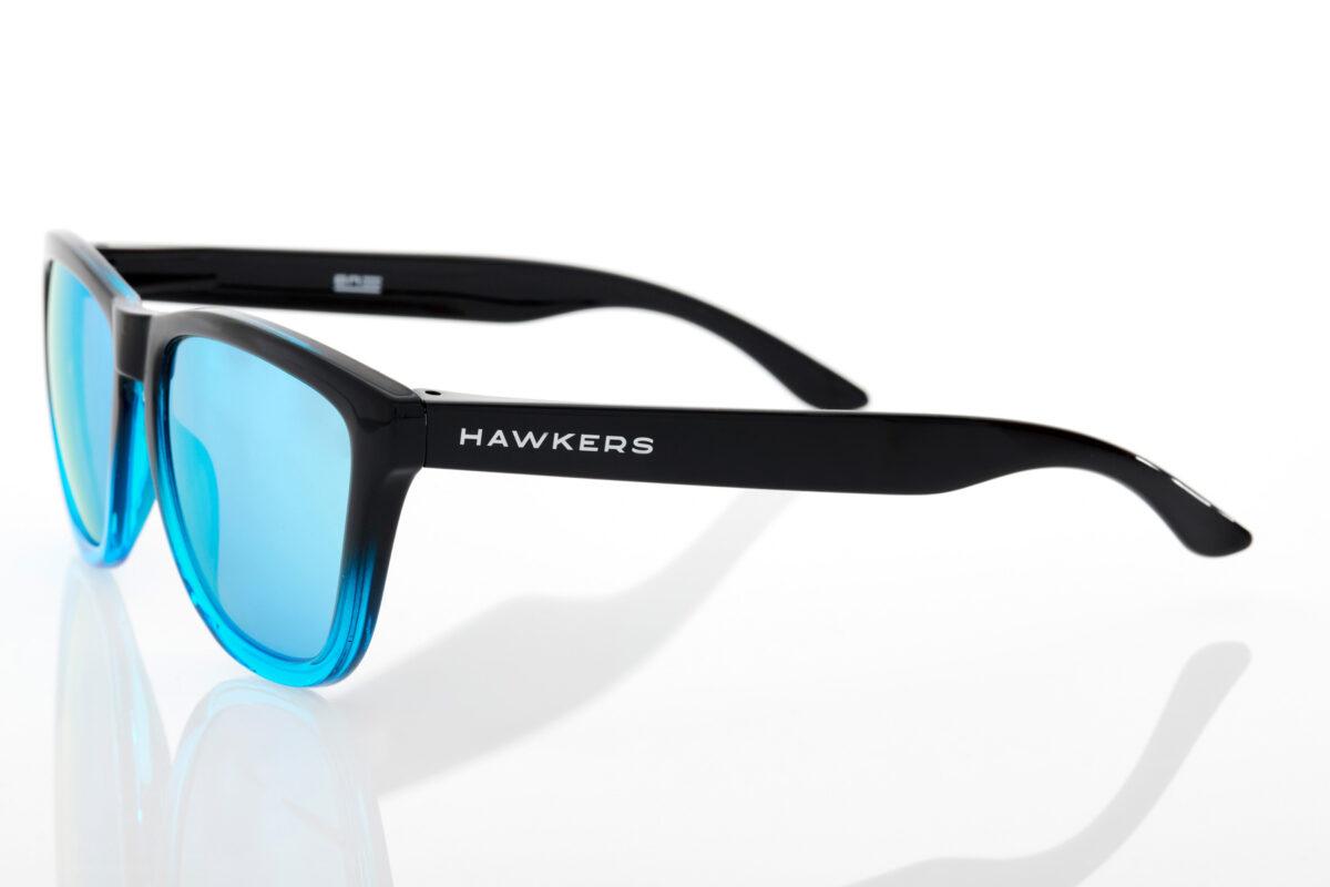 Καθρέφτης Unisex Μαύρα Γυαλιά Ηλίου Hawkers One Fusion Clear Blue