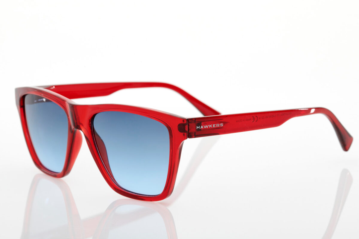 Unisex Red Sunglasses Hawkers One Ls Crystal Red Blue Gradient
