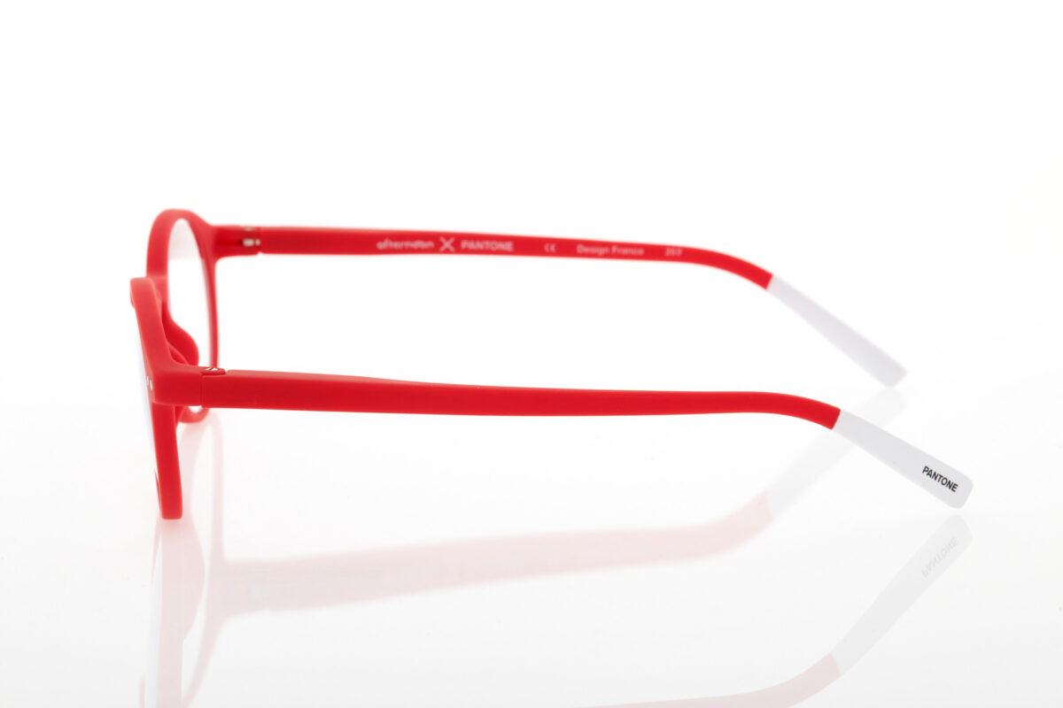 Pantone red reading glasses