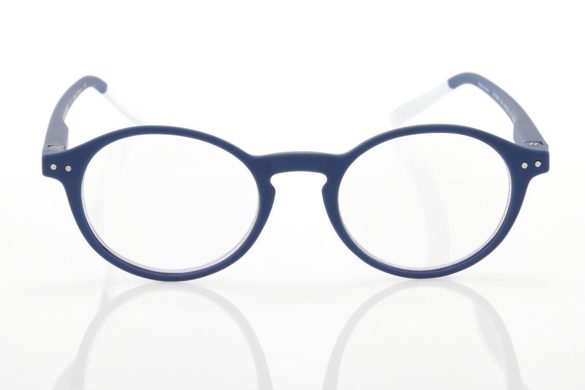 Pantone blue reading glasses
