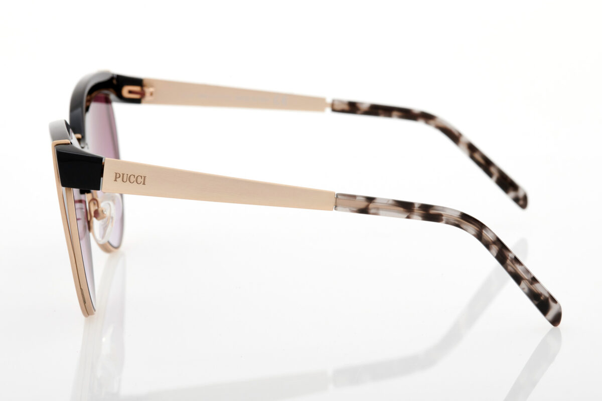 Black Gold Female Sunglasses Emilio Pucci