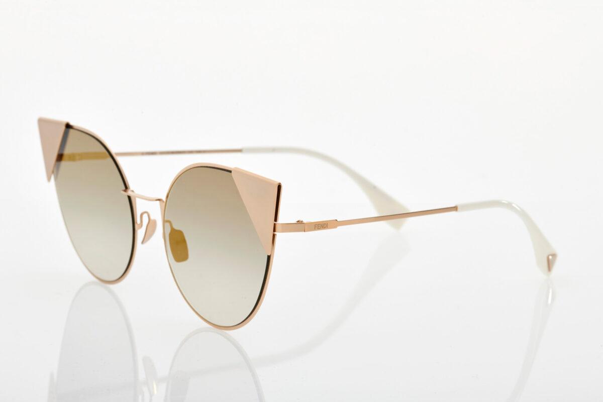 Ροζ Χρυσά Γυναικεία Γυαλιά Ηλίου Fendi