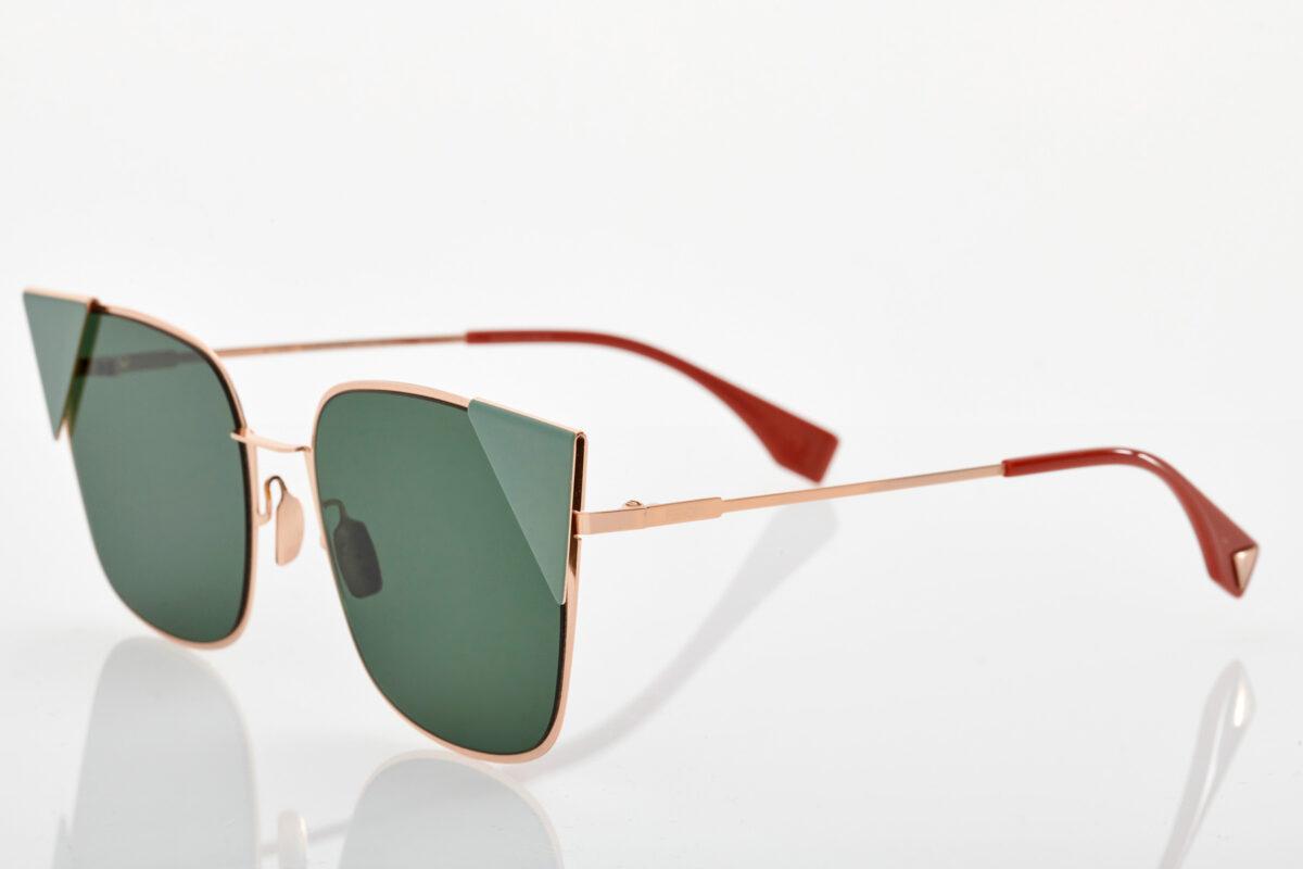 Χρυσά Πράσινα Γυναικεία Γυαλιά Ηλίου Fendi