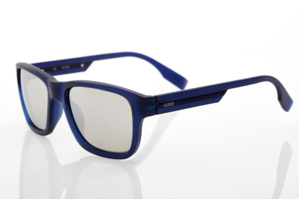 Μπλε Ανδρικά Γυαλιά Ηλίου Καθρέφτες GUESS 6802MBL35F