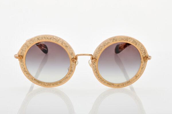 Gold Female Sunglasses Miu Miu