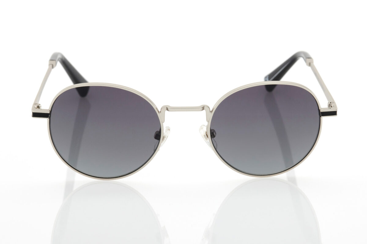 Unisex Ασημί Γυαλιά Ηλίου Hawkers Moma Black Gradient