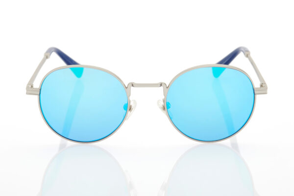 Unisex Silver Sunglasses Hawkers Moma Silver Clear Blue