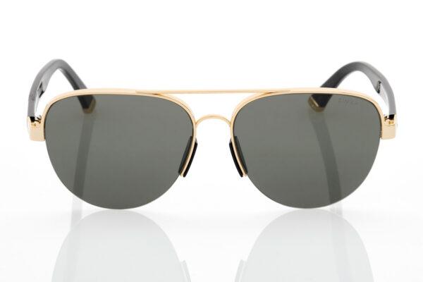 Unisex Μαύρα-Χρυσά Γυαλιά Ηλίου Retrosuperfuture