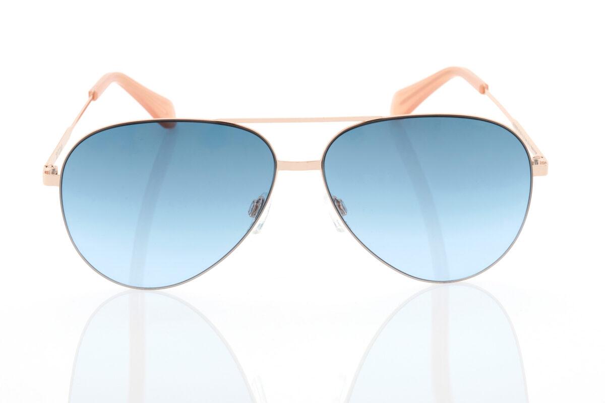 Unisex Ροζ-Χρυσά Γυαλιά Ηλίου Hawkers ROSE GOLD BLUE GRADIENT COLE