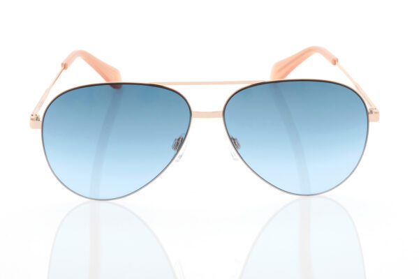 Unisex rose Gold Sunglasses Hawkers ROSE GOLD BLUE GRADIENT COLE