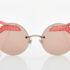 Γυναικεία Κόκκινα Γυαλιά Ηλίου Καθρέφτες Bvlgari