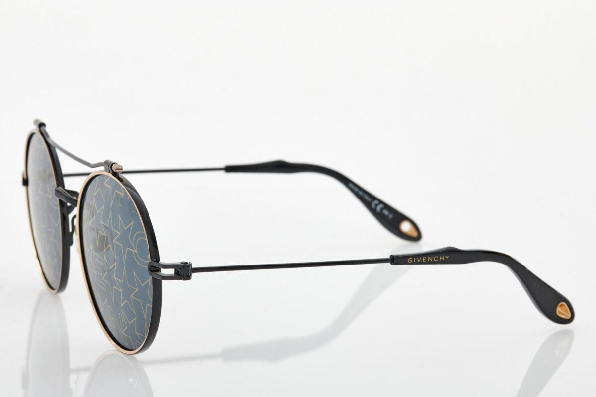 Unisex Μαύρα Χρυσά Γυαλιά Ηλίου Givenchy
