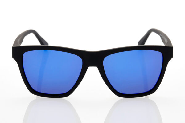 Unisex Black Mirror Sunglasses Hawkers POLARIZED RUBBER BLACK SKY ONE LS