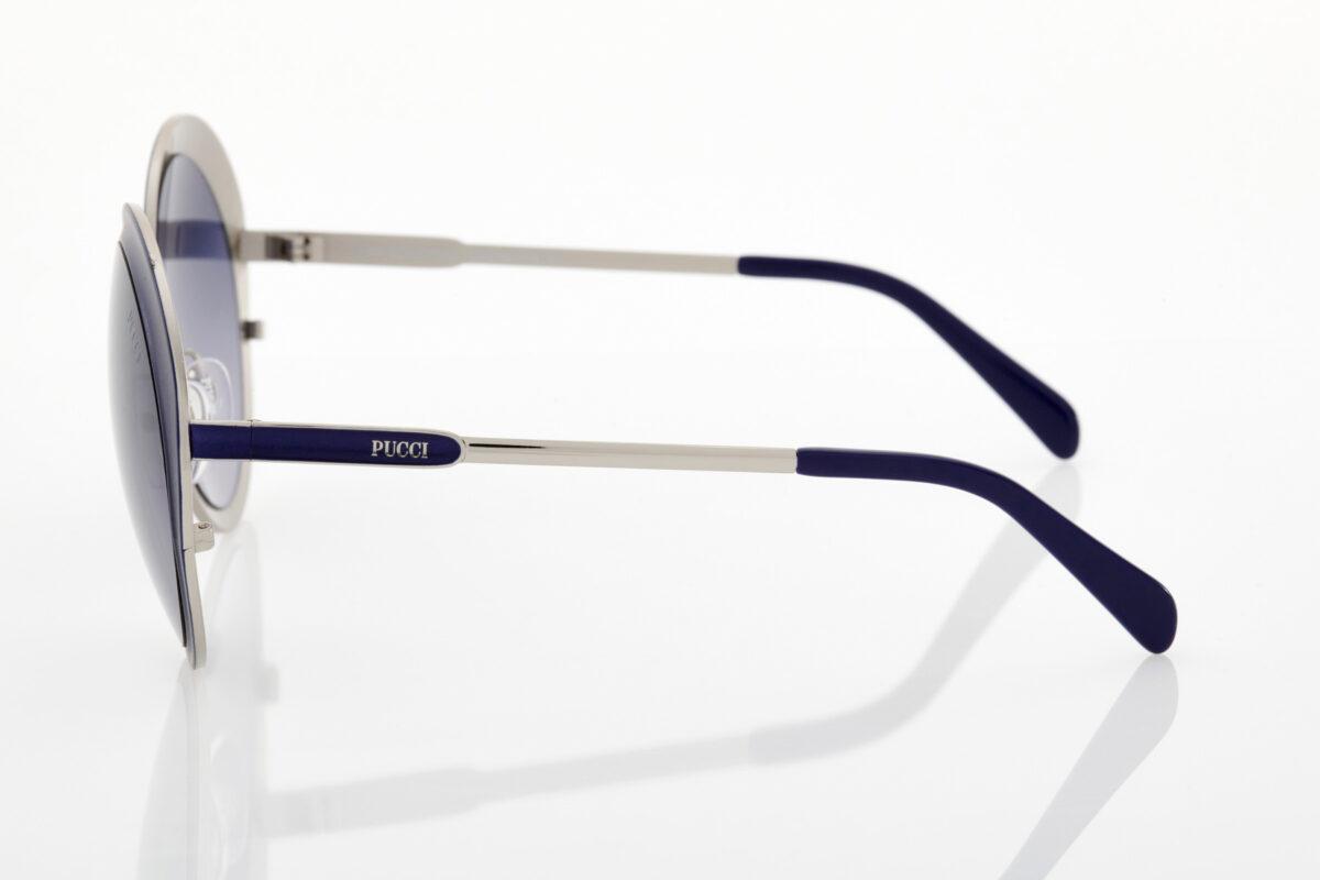 Γυναικεία Μπλε Σκούρα Ασημί Γυαλιά Ηλίου Emilio Pucci