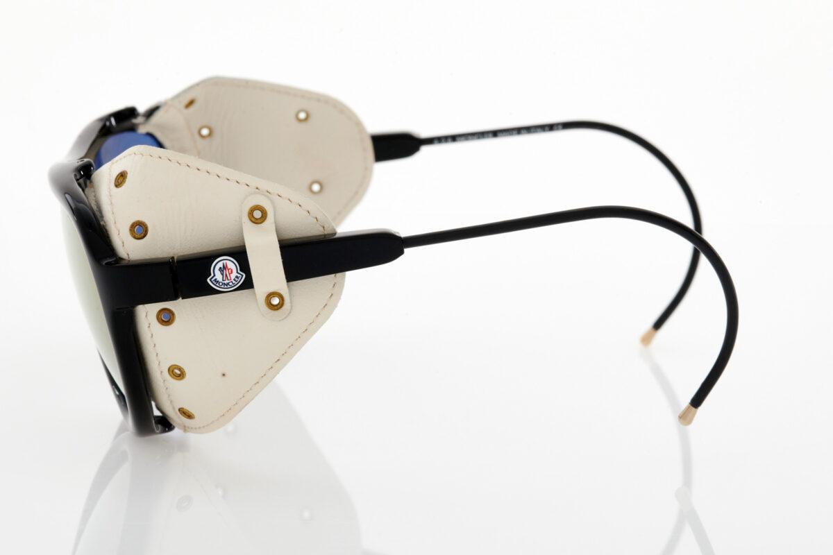 Unisex Μαύρα Λευκά Γυαλιά Ηλίου Καθρέφτης Moncler