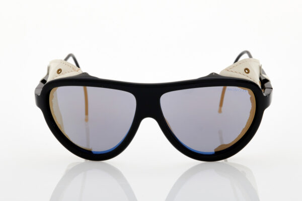 Unisex Moncler Black-white mirror sunglasses