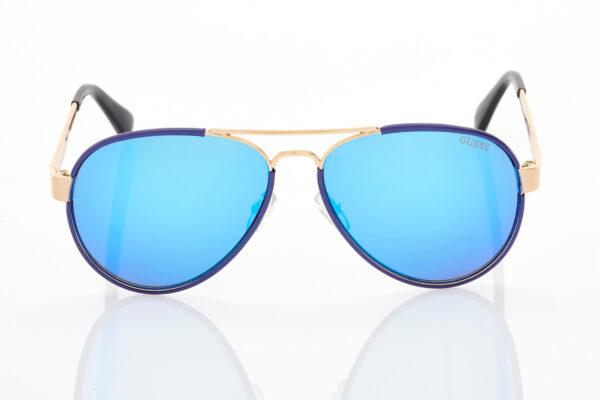 Unisex Χρυσό Μπλε Γυαλιά Ηλίου Guess