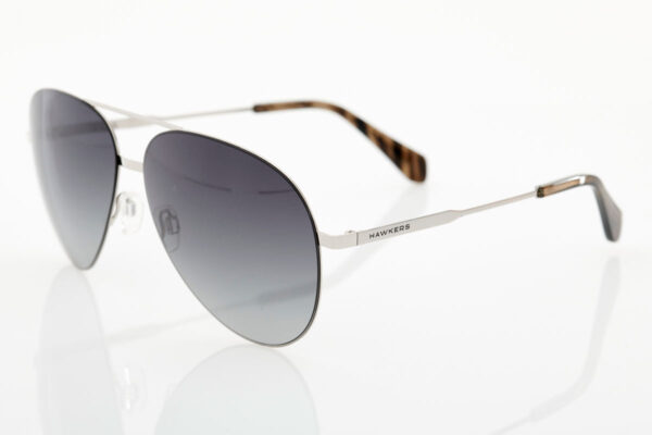 Unisex Silver Sunglasses Hawkers Silver Black Gradient