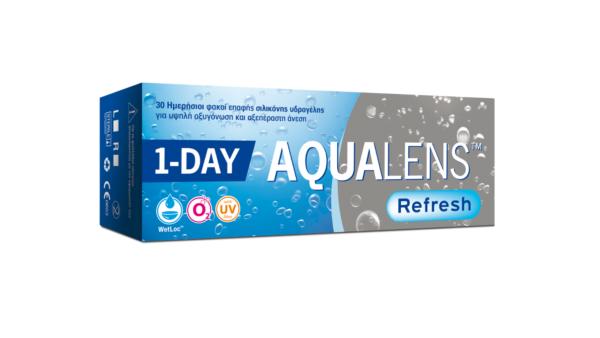 Ημερήσιοι Φακοί επαφής μυωπίας Aqualens Refresh One Day