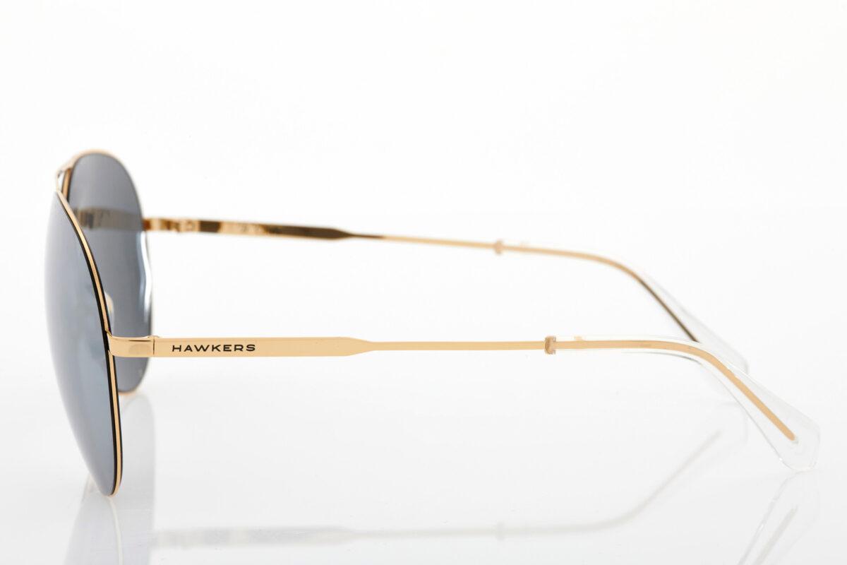 Unisex Χρυσά Γυαλιά Ηλίου Hawkers Gold Chrome Cole