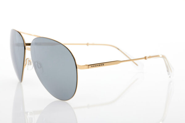 Unisex Gold Sunglasses Hawkers Gold Chrome Cole