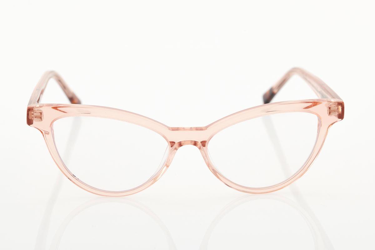 Female Pink Transparent Glasses BLUE LIGHT Crystal Champagne Chablis