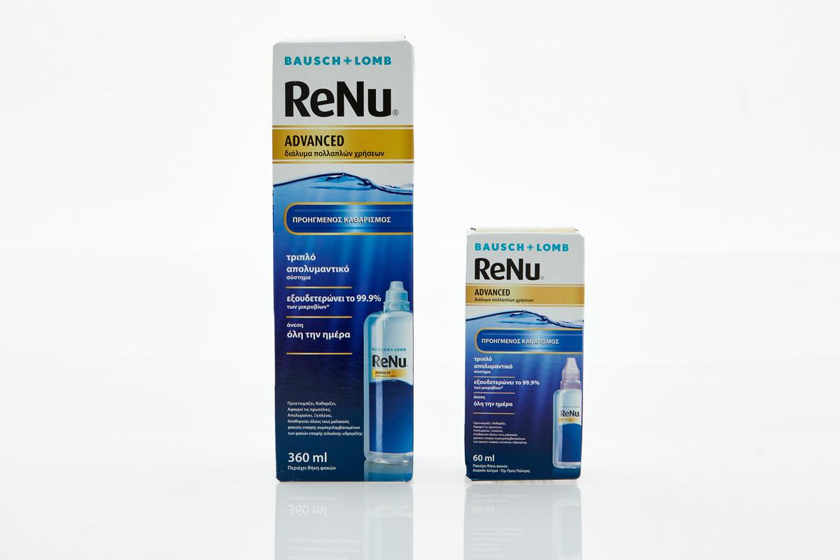Υγρό Φακών Επαφής ReNu Advanced 360ml +Travel Size 60ml