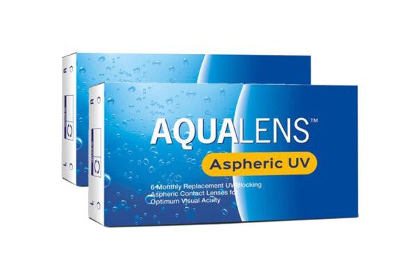 Combo Μηνιαίοι Φακοί Επαφής Μυωπίας Aqualens Aspheric UV