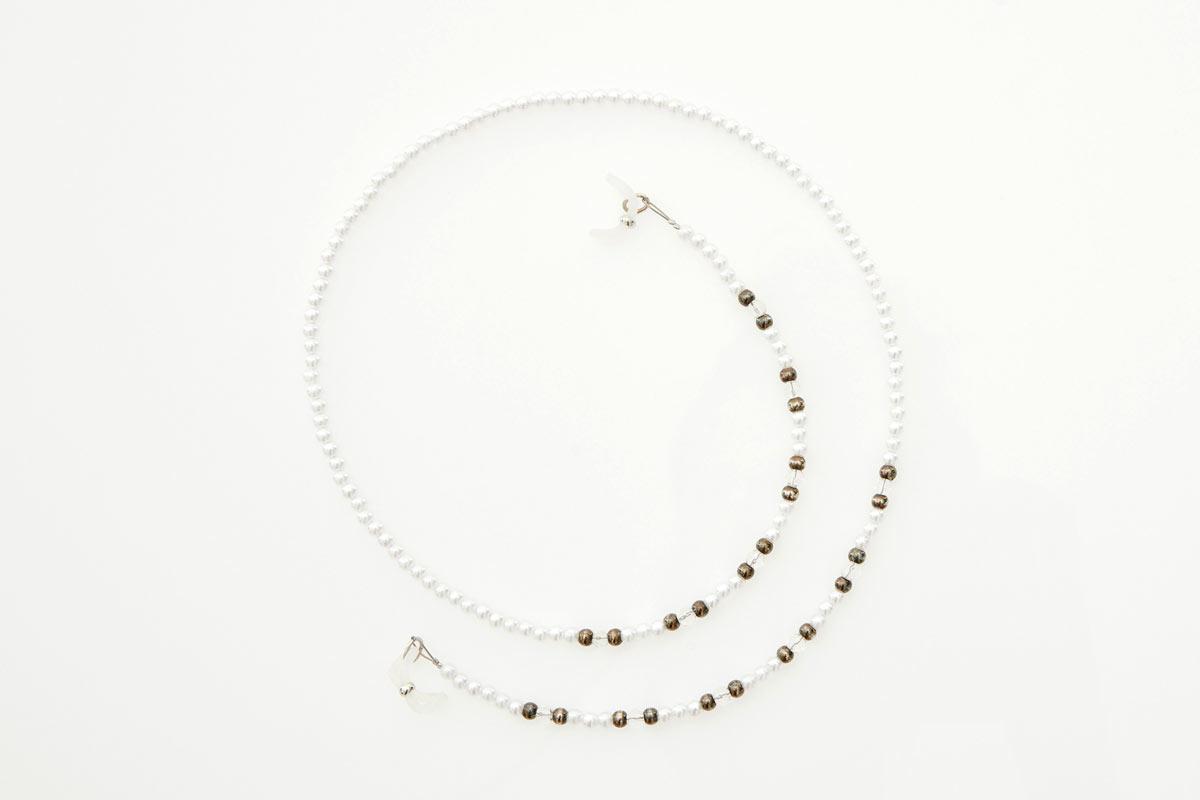 Grey Pearl Eyewear Chain