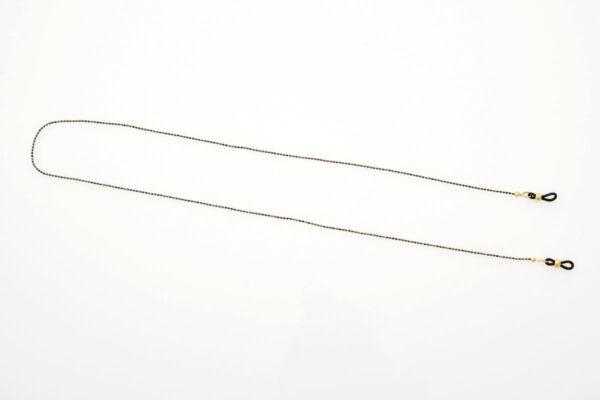 Metal Black-Gold Round Eyewear Chain
