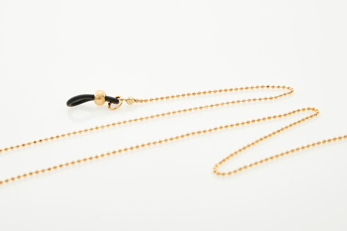 Metal Gold Round Eyewear Chain