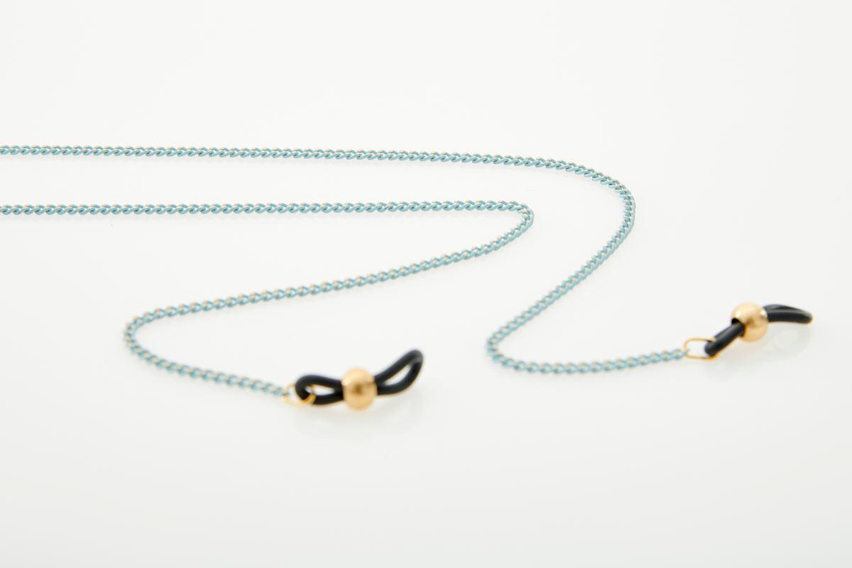Metal Light Blue Eyewear Chain