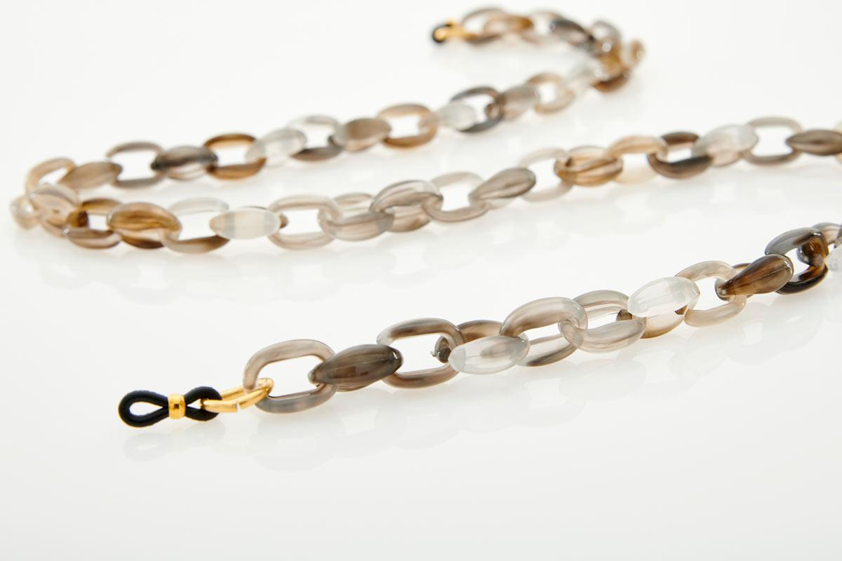 Acetate Grey Eyewear Chain