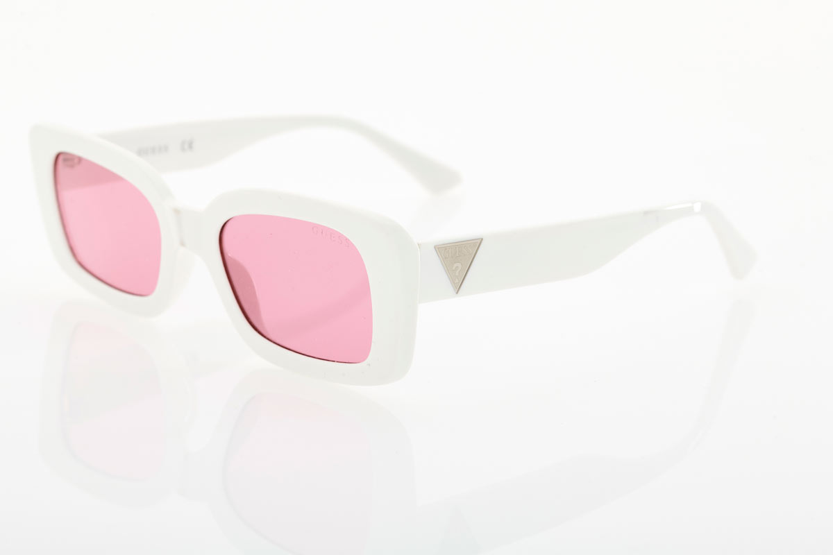 White Female Guess Sunglasses
