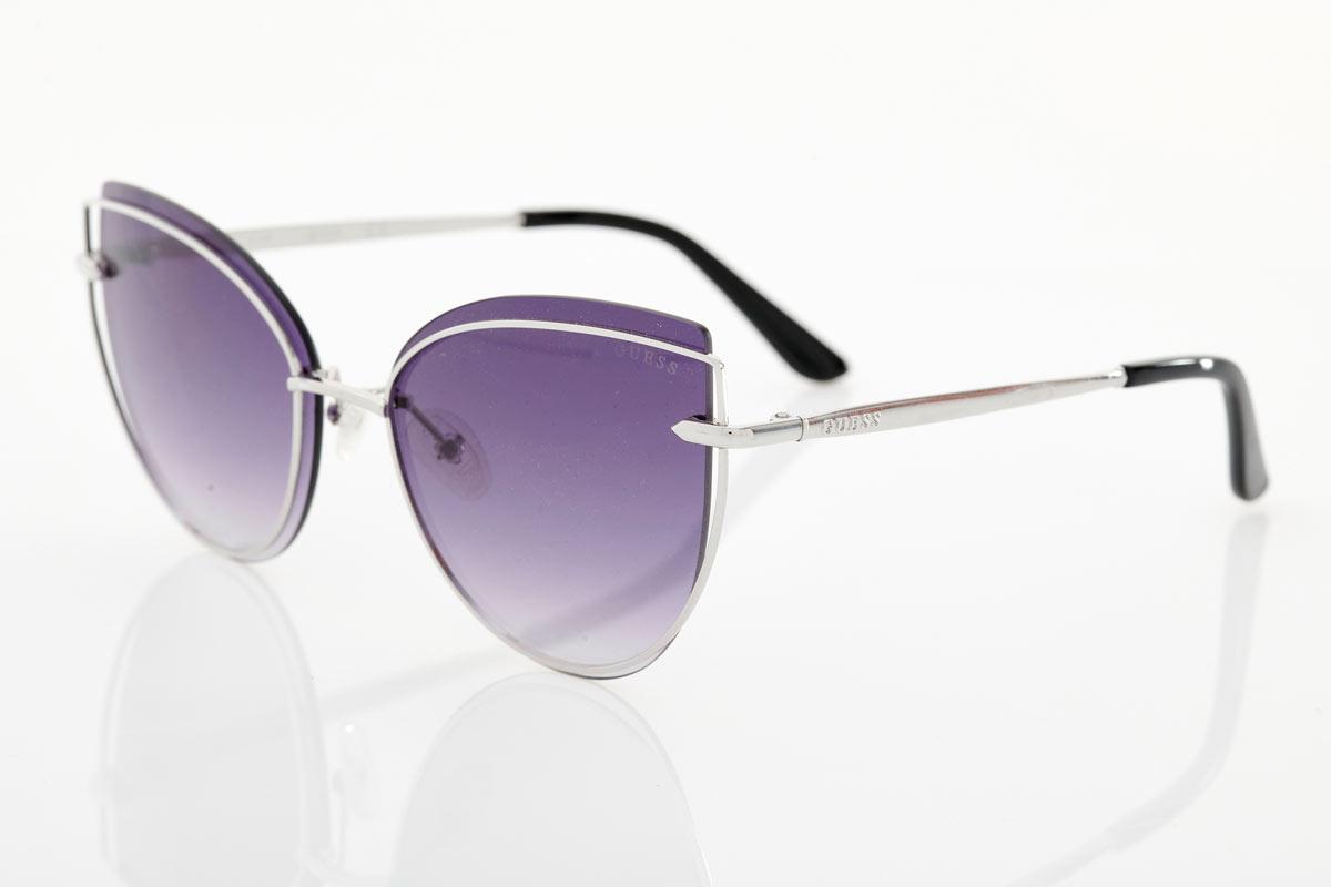 Ασημί Γυναικεία Γυαλιά Ηλίου Guess