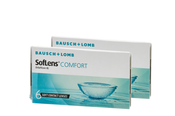 Combo Monthly Contact Lenses for Myopia Soflens Comfort 6+6 contacts